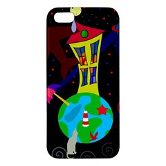Colorful Universe Apple Iphone 5 Premium Hardshell Case by Valentinaart