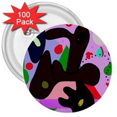 Decorative Abstraction 3  Buttons (100 Pack)  by Valentinaart