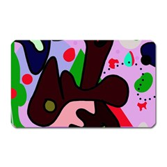 Decorative Abstraction Magnet (rectangular) by Valentinaart