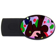 Decorative Abstraction Usb Flash Drive Oval (4 Gb)  by Valentinaart