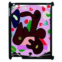 Decorative Abstraction Apple Ipad 2 Case (black) by Valentinaart