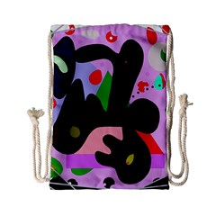 Decorative Abstraction Drawstring Bag (small) by Valentinaart