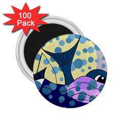 Whale 2 25  Magnets (100 Pack)  by Valentinaart