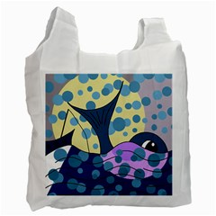 Whale Recycle Bag (two Side)  by Valentinaart