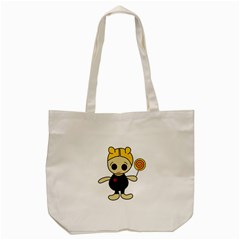 Cute Doll Girl Tote Bag (cream) by Valentinaart