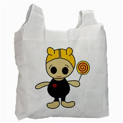 Cute Doll Girl Recycle Bag (one Side) by Valentinaart