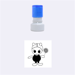 Cute Doll Girl Rubber Round Stamps (small) by Valentinaart