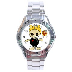 Cute Doll Girl Stainless Steel Analogue Watch