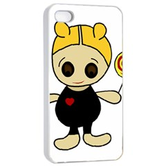 Cute Doll Girl Apple Iphone 4/4s Seamless Case (white) by Valentinaart