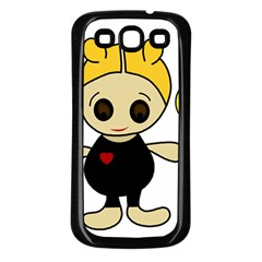 Cute Doll Girl Samsung Galaxy S3 Back Case (black) by Valentinaart