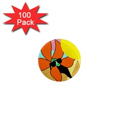 Sunflower On Sunbathing 1  Mini Magnets (100 Pack)  by Valentinaart