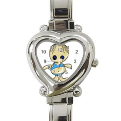 Cute Boy Heart Italian Charm Watch by Valentinaart