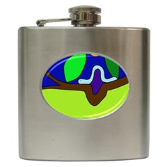 Caterpillar  Hip Flask (6 Oz) by Valentinaart