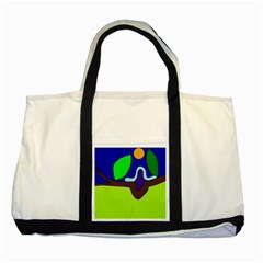 Caterpillar  Two Tone Tote Bag by Valentinaart