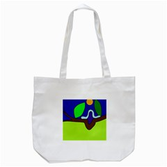 Caterpillar  Tote Bag (white) by Valentinaart