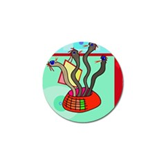 Dancing  Snakes Golf Ball Marker (10 Pack) by Valentinaart