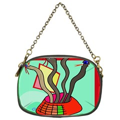 Dancing  Snakes Chain Purses (one Side)  by Valentinaart
