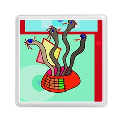 Dancing  Snakes Memory Card Reader (square)  by Valentinaart