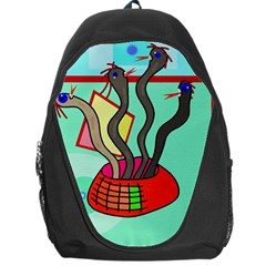 Dancing  Snakes Backpack Bag by Valentinaart
