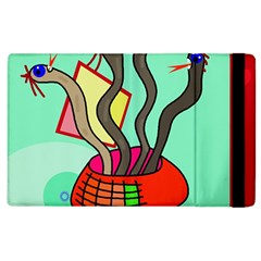 Dancing  Snakes Apple Ipad 2 Flip Case by Valentinaart