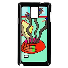 Dancing  Snakes Samsung Galaxy Note 4 Case (black) by Valentinaart