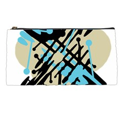 Abstract Decor   Blue Pencil Cases by Valentinaart