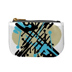 Abstract Decor   Blue Mini Coin Purses by Valentinaart