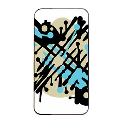 Abstract Decor   Blue Apple Iphone 4/4s Seamless Case (black) by Valentinaart