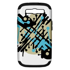 Abstract Decor   Blue Samsung Galaxy S Iii Hardshell Case (pc+silicone) by Valentinaart