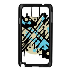 Abstract Decor   Blue Samsung Galaxy Note 3 N9005 Case (black) by Valentinaart