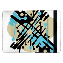 Abstract Decor   Blue Samsung Galaxy Tab Pro 12 2  Flip Case by Valentinaart