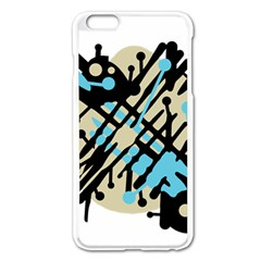 Abstract Decor - Blue Apple Iphone 6 Plus/6s Plus Enamel White Case by Valentinaart
