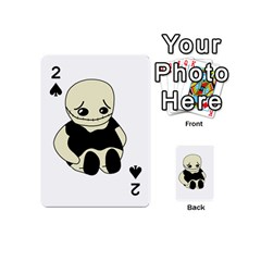 Halloween Sad Monster Playing Cards 54 (mini)  by Valentinaart