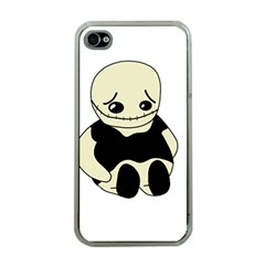 Halloween Sad Monster Apple Iphone 4 Case (clear)