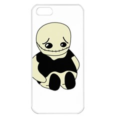 Halloween Sad Monster Apple Iphone 5 Seamless Case (white)