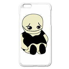 Halloween Sad Monster Apple Iphone 6 Plus/6s Plus Enamel White Case by Valentinaart