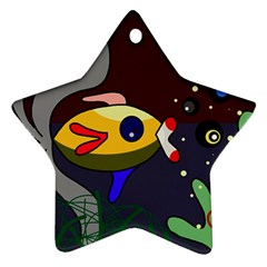 Fish Ornament (star)  by Valentinaart