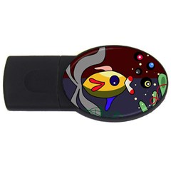 Fish Usb Flash Drive Oval (2 Gb)  by Valentinaart