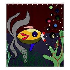 Fish Shower Curtain 66  X 72  (large)  by Valentinaart