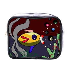 Fish Mini Toiletries Bags by Valentinaart