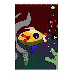 Fish Shower Curtain 48  X 72  (small)  by Valentinaart