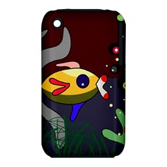Fish Apple Iphone 3g/3gs Hardshell Case (pc+silicone) by Valentinaart