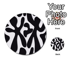 Black And White Dance Multi Purpose Cards (round)  by Valentinaart