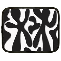 Black And White Dance Netbook Case (xl)  by Valentinaart