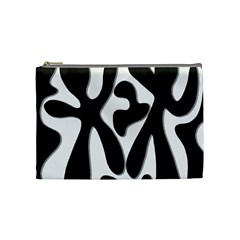Black And White Dance Cosmetic Bag (medium)  by Valentinaart