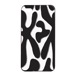 Black And White Dance Apple Iphone 4/4s Seamless Case (black) by Valentinaart