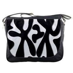 Black And White Dance Messenger Bags by Valentinaart