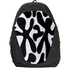 Black And White Dance Backpack Bag by Valentinaart