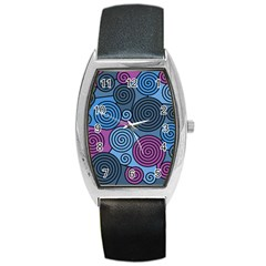 Blue Hypnoses Barrel Style Metal Watch by Valentinaart