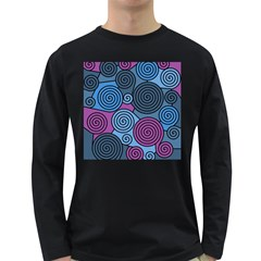Blue Hypnoses Long Sleeve Dark T-shirts by Valentinaart